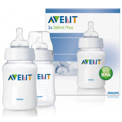 AVENT Classic 260ml 2pc Bottle