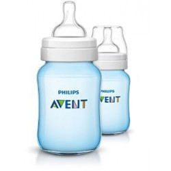 AVENT Classic 260ml 2pc Bottle Blue