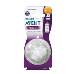 Avent Natural Fast Flow Teats 2 Pack 6M+
