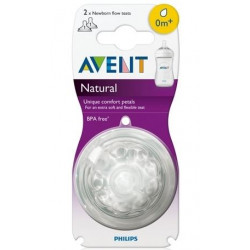 Avent Natural Newborn Flow Teat 0m+ 1 Hole 2 Pack