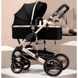 Belecoo Q3 Ltd Edition Black and Rose Gold 2in1 Travel System