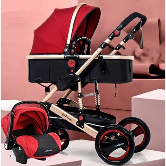 Belecoo Q3 3in1 Travel System Red