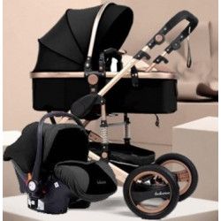 Belecoo Q3 Ltd Edition Black and Rose Gold 3in1 Travel System