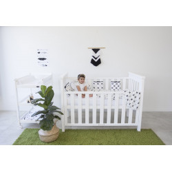 Babyhood Milano 4 in1 Cot White