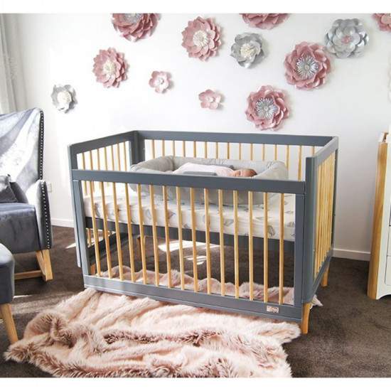 Babyhood Riya 5 in 1 Cot Grey