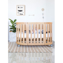 Babyhood Kaylula Sova Cot Classic Beach Rail-up