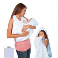 Clevamama Splash'N'Wrap Baby Apron Towel Blue