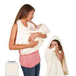 Clevamama Splash'N'Wrap Baby Apron Towel Cream