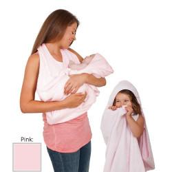 Clevamama Splash'N'Wrap Baby Apron Towel Pink