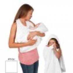 Clevamama Splash'N'Wrap Baby Apron Towel White