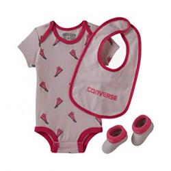 Converse Baby Girl All Star 3-Piece Set light Pink
