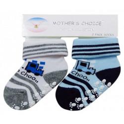 Mothers Choice 2pc non slip sox choo