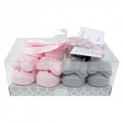 Mothers Choice 2pc rattle box socks bow