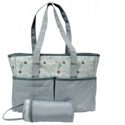 Mothers Choice 3pc microfibre diaper bag grey