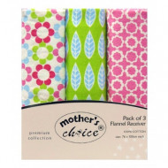 Mothers Choice 3pc receiving blankets flower