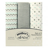 Mothers Choice 3pc receiving blankets neutral
