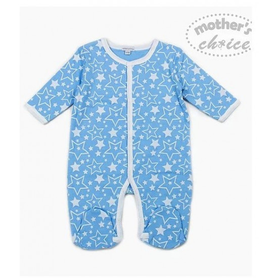 Mothers Choice Printed footed Pyjama/ Romper Star