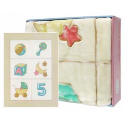 Mothers Choice cutwork blanket blocks beige