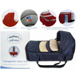 Mothers Choice transporter carry cot navy