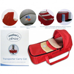 Mothers Choice transporter carry cot red