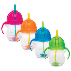 Munchkin Click Lock Weighted Flexi-Straw Cup Green