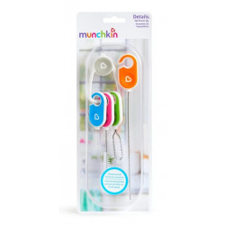 Munchkin Details Bottle & Cup Cleaning Brush Set 4 Pack