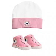 Converse Bootie Socks & Hat Set Pink