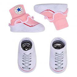 Converse Baby Chuck Taylor Sock Booties 2 Pack storm pink
