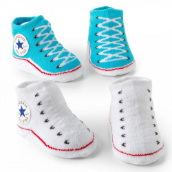 Converse Baby Chuck Taylor Sock Booties 2 Pack Turquoise / Grey