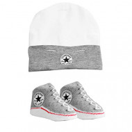 Converse Bootie Socks & Hat Set Grey