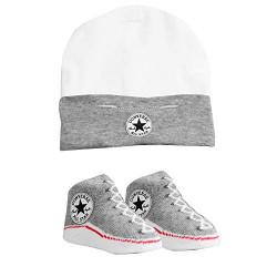 Converse Bootie Socks & Hat Set Grey