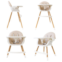 BabyWombWorld 2-in-1 Convertible Baby High Feeding Chair with Tray