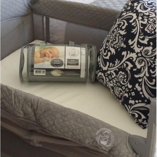 BabyWombWorld Premium Foldable Baby Camp Cot Bed Memory Foam Mattress