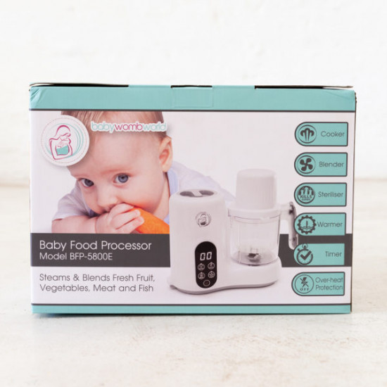 BabyWombWorld Baby Food Processor Steamer Blender and Milk Bottle Warmer
