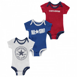 Converse 3 Pack Baby Vest