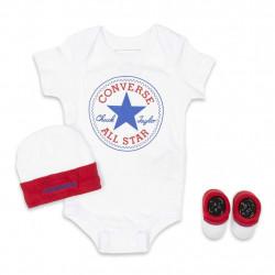 Converse Baby Boys' All Star 3-Piece Set White
