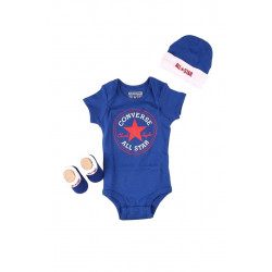Converse Baby Boys' All Star 3-Piece Set Blue/Red