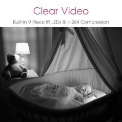 Babywombworld Wi-Fi Video Baby Monitor Nanny Camera with Sound BWW360