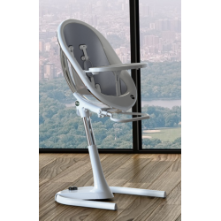 MIMA MOON HIGH CHAIR WHITE AND SLIVER