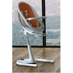 MIMA MOON HIGH CHAIR WHITE AND CAMEL