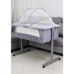 Genius Co Sleeper Crib Grey