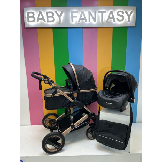 Belecoo 3 in 1 Travel System - Lux Black