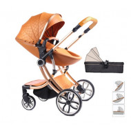 Egg Shell Baby Pram Stroller 2 in 1 Down