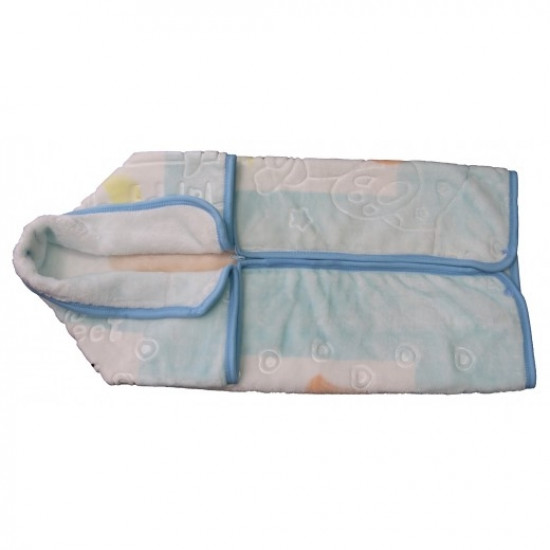 MOTHERS CHOICE INF BABY SAC BLANKET - BLUE