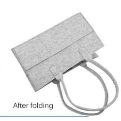 Foldable Baby Diaper Caddy Organizer Grey