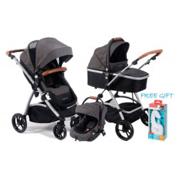Baby Buggz CHARISZMA 3in1 Travel system Charcoal + Free Gift
