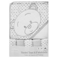 Mothers Choice Hooded towel & 5 face cloth set