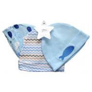 Mothers Choice 3pc Hat Set Sea Creatures