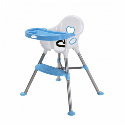 Nuovo Amour High Chair Blue/White