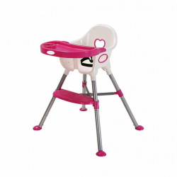 Nuovo Amour High Chair Pink/White